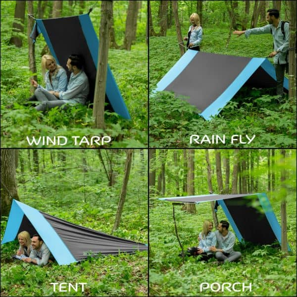 4in1 Double Camping Hammock With Straps Style