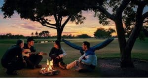 4in1 Double Camping Hammock With Straps in the Camp