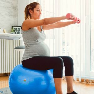Exercise Ball Use for core workout