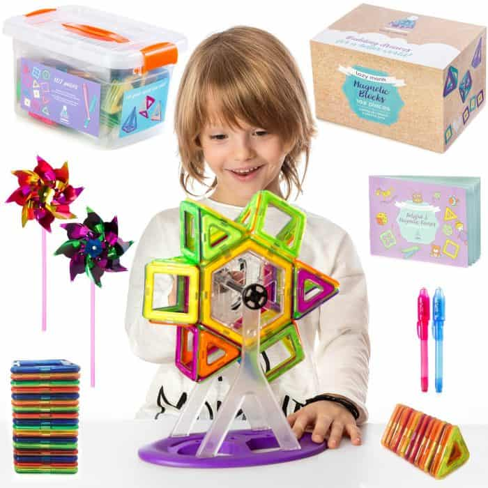 Magnetic Blocks Building Tiles Set For Kids