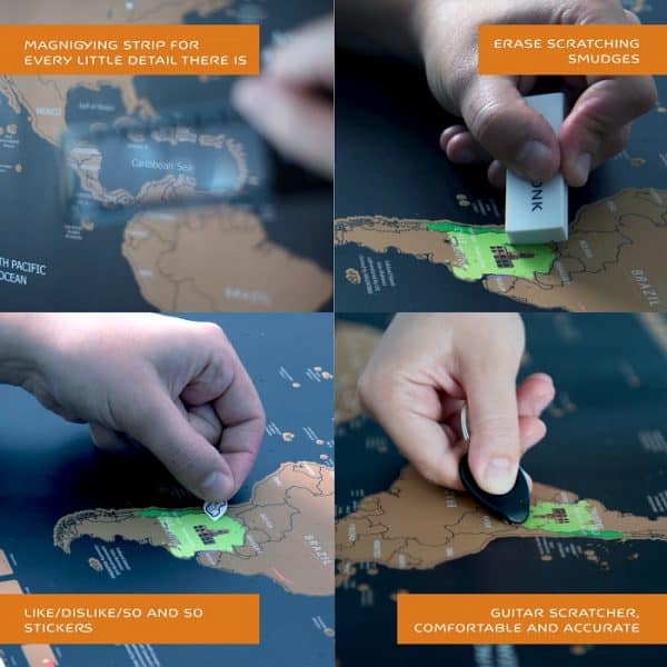 Scratch Off Map of the World How