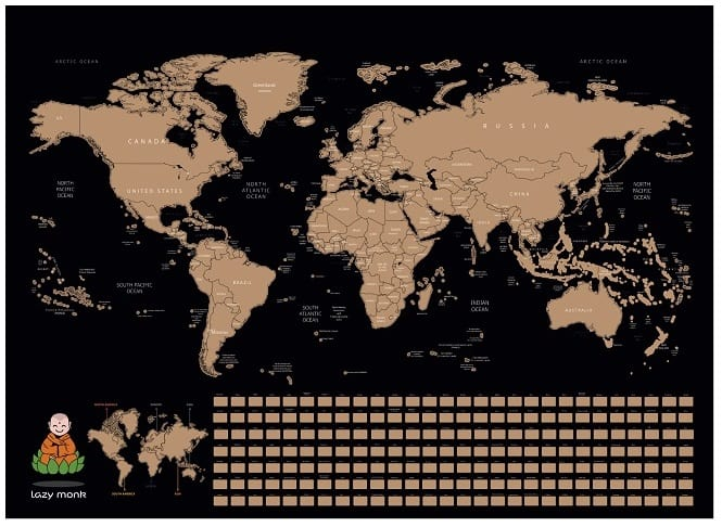 Scratch Off Map of the World Main