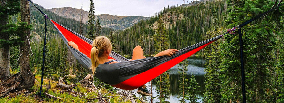 use your hammock as a chair or bed in the wild nature