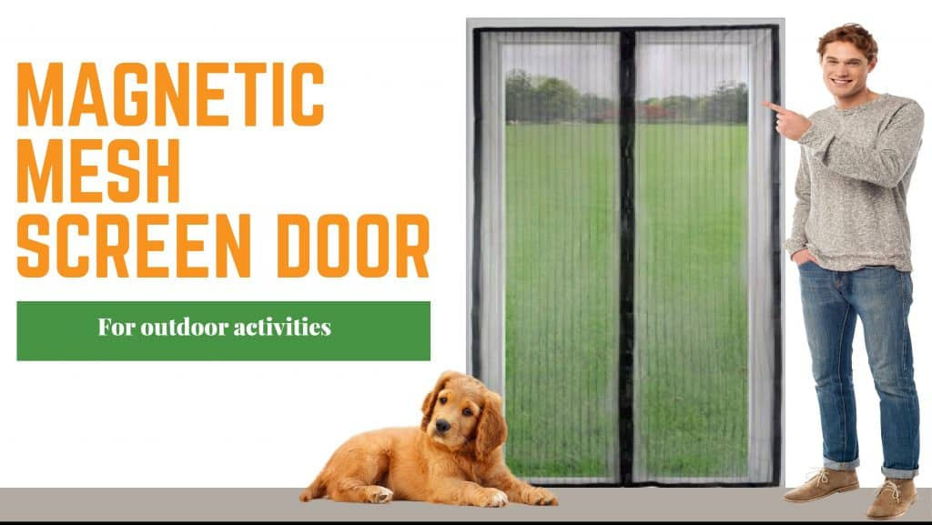 Magnetic Mesh Screen Door for Outdoor Activities